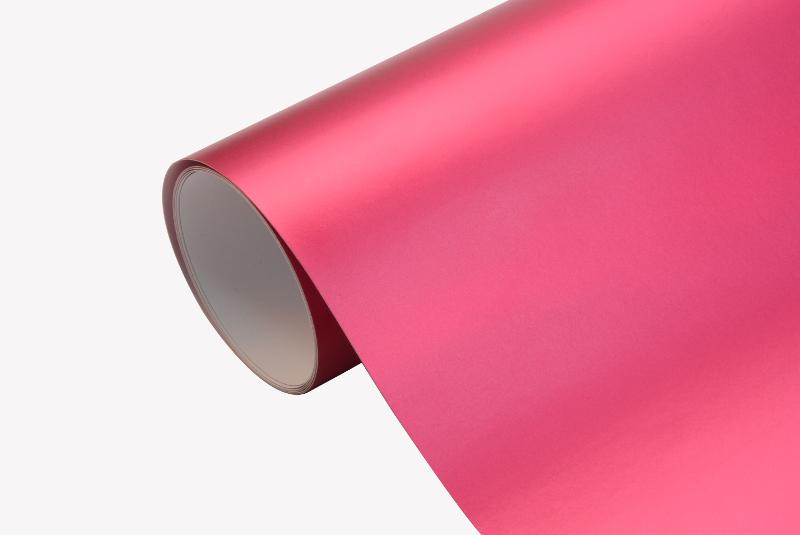 7 24 m chrom matt folie pink blasenfrei autofolie. Black Bedroom Furniture Sets. Home Design Ideas