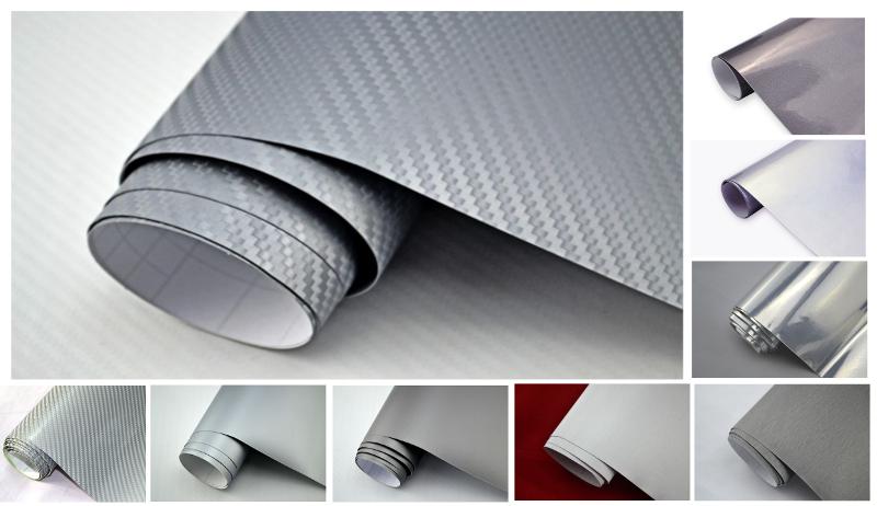 20 m auto folie silber grau 3d 4d carbon folie glanz matt geb rstet etc ebay. Black Bedroom Furniture Sets. Home Design Ideas