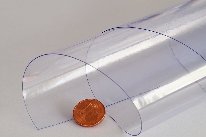 PVC Folie Glasklar 5m- transparent durchsichtig Abdeckplane 6€//m² 12 m  x 1