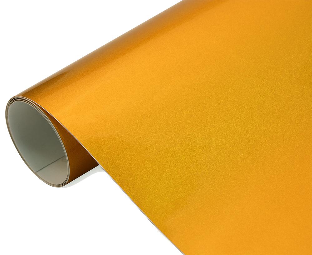 Gold Chrom Design Folie 152 cm x 50 cm hochglänzend mit Luftkanäle